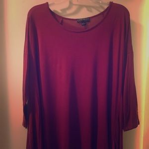 Women's Burgundy Tunic Top